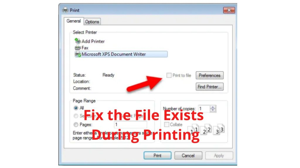 Fix the File Exists Printing time